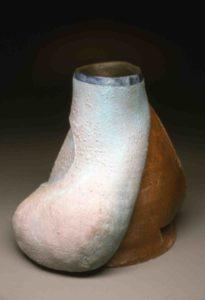 Blue vase form